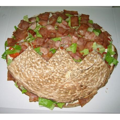 Pan de arabo de beicon